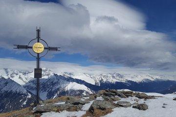 Skifahren im Ahrntal, in Südtirol.