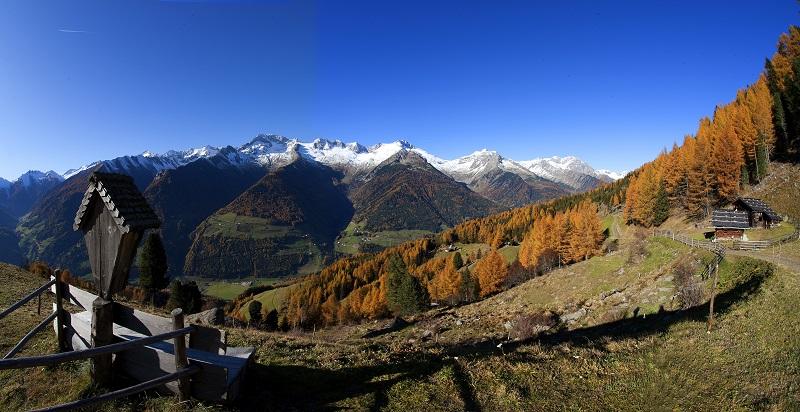 Wunderschöner Herbst im Ahrntal im Berghotel Alpenfrieden in Südtirol. © TVB Kronplatz, TV Ahrntal